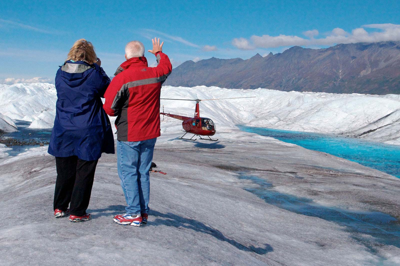 Alaska Glacier Heli Landing