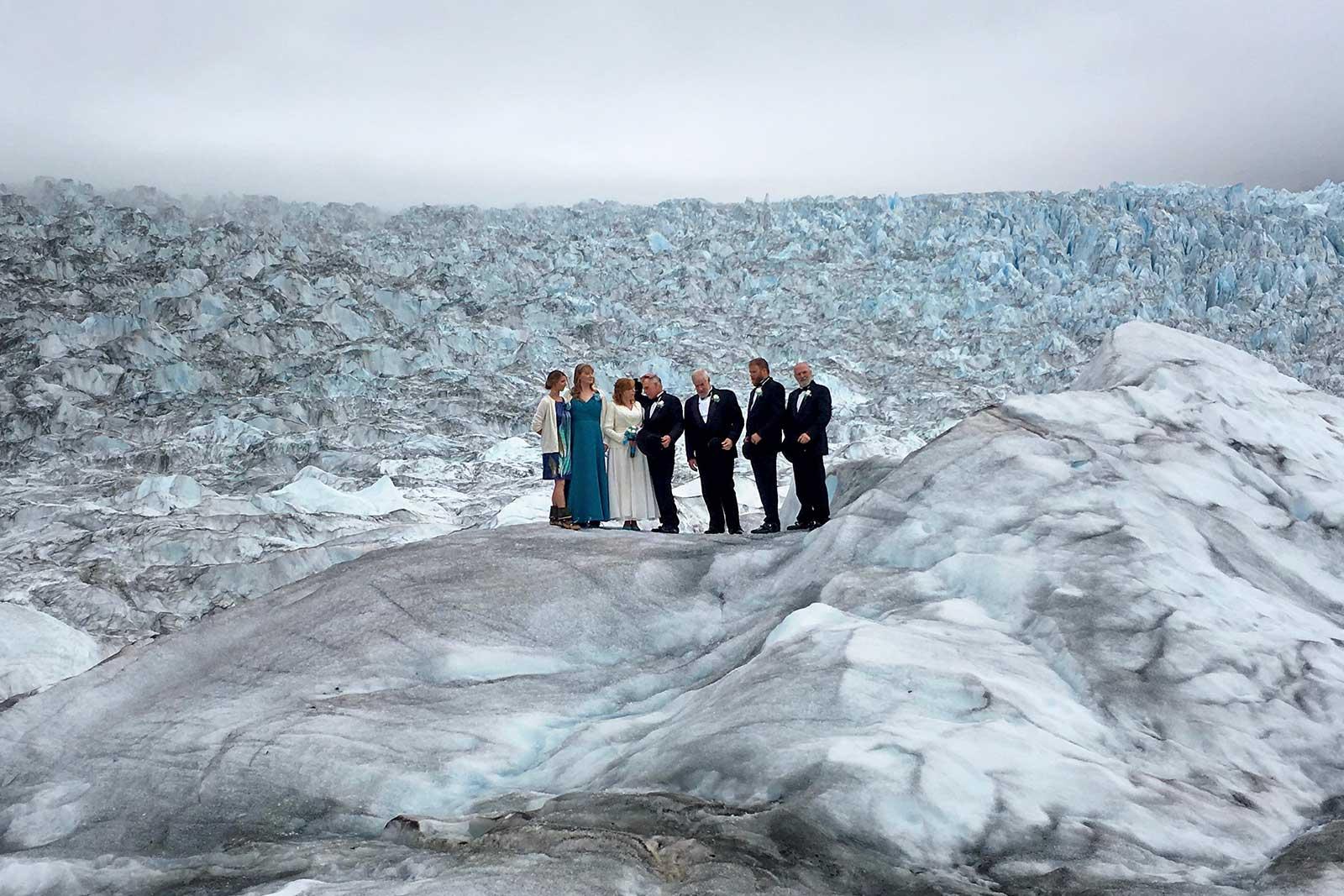 Wedding on Glacier